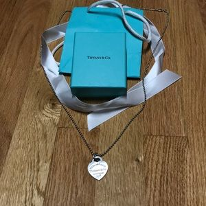 Tiffany & co heart necklace on Long chain